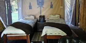 Chalets with twin beds, Caprivi Houseboat Safaris Lodge